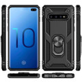 Black Slim 360 Rotating Metal Ring Armor Stand Case For Galaxy S10 5G - 5