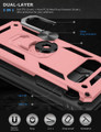 Rose Gold Slim Armor 360 Rotating Kickstand Case For  Galaxy S10 5G - 2