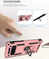 Rose Gold Slim Armor 360 Rotating Kickstand Case For  Galaxy S10 5G - 5