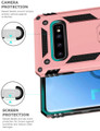 Rose Gold Slim Armor 360 Rotating Kickstand Case For  Galaxy S10 5G - 6