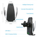 Automatic Clamping Qi Wireless Car Charger Mount Holder  - 5