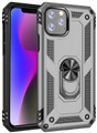 Silver iPhone 11 Pro Shock Proof 360 Rotating Metal Circle Stand Case - 1