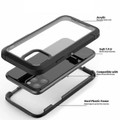 Black iPhone 11 Pro Shock Proof Heavy Duty Military Defender Case - 2