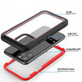 Red Military Defender Armor Shock Proof Case For iPhone 11 Pro - 3