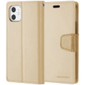 Shiny Gold Genuine Mercury Sonata Diary Wallet Case For iPhone 11 Pro - 2