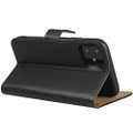 Black Genuine Leather Premium Business Wallet Case For iPhone 11 - 4