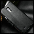 Black Genuine Leather Wallet Stand Case For Samsung Galaxy S4 Mini - 4