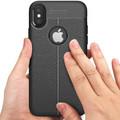 Black Ultra Slim Carbon Fibre Leather Texture Case For iPhone XR - 2