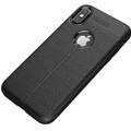 Black Ultra Slim Carbon Fibre Leather Texture Case For iPhone XR - 4
