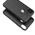 Black Ultra Slim Carbon Fibre Leather Texture Case For iPhone XR - 5
