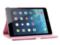Hot Pink Stylish  Rotational Leather Stand Case Cover For Apple iPad Mini 3 - 2