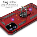 Red iPhone 11 Pro Slim Armor 360 Rotating Metal Circle Stand Case - 3