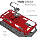Red iPhone 11 Pro Slim Armor 360 Rotating Metal Circle Stand Case - 4