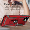 Red iPhone 11 Pro Slim Armor 360 Rotating Metal Circle Stand Case - 6