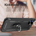 Black iPhone 11 Pro Shock Proof 360 Rotating Metal Circle Stand Case - 5