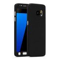 Black Full Body Protection Case + Glass Screen Protector for Galaxy S6 - 1