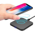 Fast Qi Wireless Charger Phone Charging Base Pad - GY-118 Metal Square - 1
