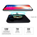 Fast Qi Wireless Charger Phone Charging Base Pad - GY-118 Metal Square - 5