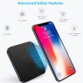 Fast Qi Wireless Charger Phone Charging Base Pad - GY-118 Metal Square - 6