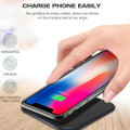 Fast Qi Wireless Charger Phone Charging Base Pad - GY-118 Metal Square - 7