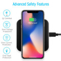 Fast Qi Wireless Charger Phone Charging Base Pad - GY-118 Metal Square - 8