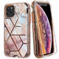iPhone 11 Geometric Marble Stone 3 in 1 Heavy Duty Full Body Case