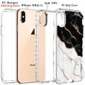 Black/White Marble Stone Shock Proof Defender Case For iPhone XR - 3