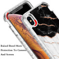 Black/White Marble Stone Shock Proof Defender Case For iPhone XR - 4