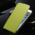 Green Vertical Flip Genuine Leather Case Cover For Apple iPhone 7 - 1