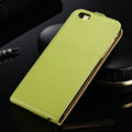 Green Vertical Flip Genuine Leather Case Cover For Apple iPhone 7 - 2