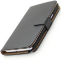 Black Genuine Leather Business Wallet Case for Samsung Galaxy Note 2 - 2