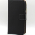 Black Genuine Leather Business Wallet Case for Samsung Galaxy Note 2 - 3