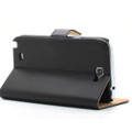 Black Genuine Leather Business Wallet Case for Samsung Galaxy Note 2 - 5
