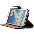 Black Genuine Leather Business Wallet Case for Samsung Galaxy Note 2 - 6