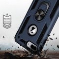 Navy 360 Rotating Metal Ring Shock Proof Stand Case for iPhone 8 Plus - 2