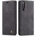 Black Galaxy A70 CaseMe Premium Compact Flip Wallet Card Case - 1