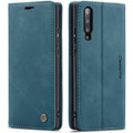 Blue Galaxy A70 CaseMe Premium Compact Flip Wallet Case Card Slots - 1