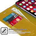 Gold iPhone 11 Pro Mercury Mansoor Diary Card Holder Wallet Case - 2