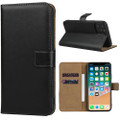 Black Genuine Leather Business Wallet Case For iPhone 11 Pro MAX - 3