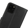 Black Genuine Leather Business Wallet Case For iPhone 11 Pro MAX - 7