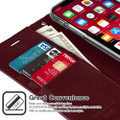 Classy Wine Mercury Mansoor Diary Wallet Case For  iPhone 11 Pro MAX - 3