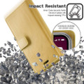 Stylish Gold iPhone 11 Pro MAX Mercury Mansoor Diary Wallet Case - 5