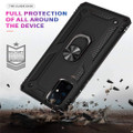 Black 360 Rotating Metal Ring Armor Stand Case For Galaxy S20 Ultra - 2