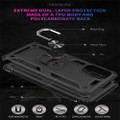 Black 360 Rotating Metal Ring Armor Stand Case For Galaxy S20 Ultra - 4