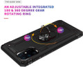 Black 360 Rotating Metal Ring Armor Stand Case For Galaxy S20 Ultra - 5
