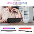 Black 360 Rotating Metal Ring Armor Stand Case For Galaxy S20 Ultra - 6