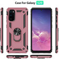 Galaxy S20+ Plus Rose Gold 360 Rotating Metal Ring Armor Stand Case - 4
