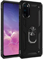 Black Galaxy S20+ Plus 360 Rotating Metal Ring Armor Stand Case - 1