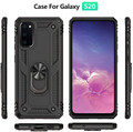 Black Galaxy S20+ Plus 360 Rotating Metal Ring Armor Stand Case - 3