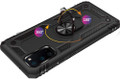 Black 360 Rotating Metal Ring Armor Stand Case for Galaxy S20 - 2